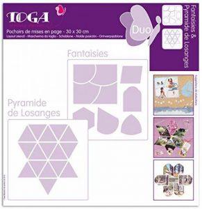 Toga PO19 Lot de 2 Pochoirs Plastique Transparent 30 x 30 x 0,1 cm de la marque Toga image 0 produit