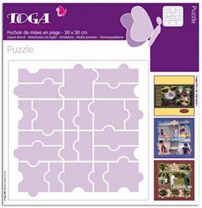 Toga PO26 Pochoir Plastique Transparent 30 x 30 x 0,1 cm de la marque Toga image 0 produit