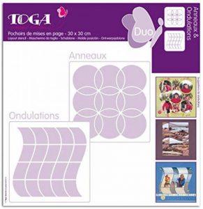Toga PO30 Lot de 2 Pochoirs Plastique Transparent 30 x 30 x 0,1 cm de la marque Toga image 0 produit
