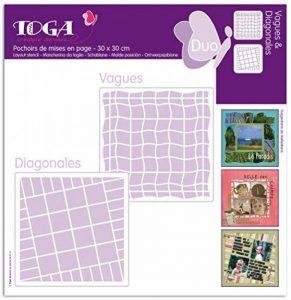 Toga PO36 Lot de 2 Pochoirs Plastique Transparent 30 x 30 x 0,1 cm de la marque Toga image 0 produit