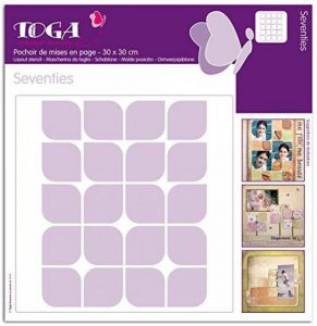 Toga PO38 Pochoir Plastique Transparent 30 x 30 x 0,1 cm de la marque Toga image 0 produit