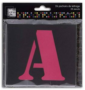 Toga Pochoirs Lettres Plastique Transparent 9 x 9 x 0,1 cm de la marque Toga image 0 produit