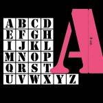Toga Pochoirs Lettres Plastique Transparent 9 x 9 x 0,1 cm de la marque Toga image 1 produit