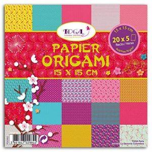 Toga POG002 Jardin Japonais Lot de 100 Feuilles origami Papier Multicolore 15 x 15 x 1 cm de la marque Toga image 0 produit