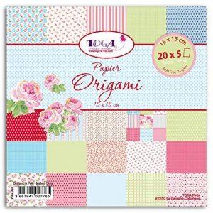 Toga POG003 Mademoiselle Lot de 100 Feuilles origami Papier Multicolore 15 x 15 x 1 cm de la marque Toga image 0 produit