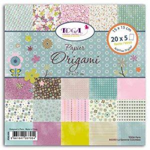 Toga POG005 1001 Fleurs Lot de 100 Feuilles origami Papier Multicolore 15 x 15 x 1 cm de la marque Toga image 0 produit