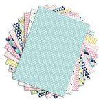 Toga PPK011 Géométrique Pastel Lot de 48 Feuilles imprimées Papier Multicolore 21 x 29,7 x 0,1 cm de la marque Toga image 1 produit
