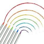 TOPmore 36/60/100 couleurs uniques - Stylos Fineliner 0.4mm- Idéal pour la calligraphie, le dessin de précision, l'écriture, le coloriage pour adulte, manga,Canvas Wrap Roll Up+ Colouring Book de la marque TOPmore image 2 produit