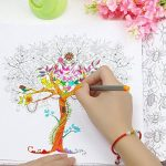 TOPmore 36/60/100 couleurs uniques - Stylos Fineliner 0.4mm- Idéal pour la calligraphie, le dessin de précision, l'écriture, le coloriage pour adulte, manga,Canvas Wrap Roll Up+ Colouring Book de la marque TOPmore image 3 produit