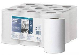 Tork 473378 Papier d'essuyage Advance Mini à dévidage central M1 - 60 m x 19,6 cm - lot de 9 bobines - Blanc de la marque Tork image 0 produit
