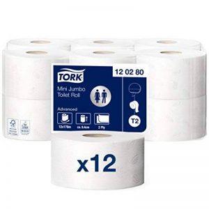 Tork mini Jumbo papier toilette en Advanced Qualité T2 Mini Jumbo toilettenpapiersystem de la marque Tork image 0 produit