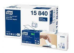TORK Xpressnap 15840 Serviette enchevêtrée Extra Doux Blanc N4 - Vendu par 5 paquets de 100 Serviettes de la marque Tork image 0 produit