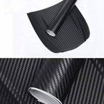 ToWinle 3D Film Autocollant Voiture Fibre de Carbone Adhesif Feuille de Fibre de carbone Autocollant Feuille Épais Noir 152 * 30cm - 2 Rouleaux de la marque ToWinle image 2 produit