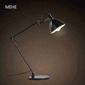 TOYM UK-Noir long bras pliage lampe de table moderne minimaliste de style scandinave et une lampe de bureau de bureau oeil support métallique apprentissage de la marque KC-lampe de table image 0 produit