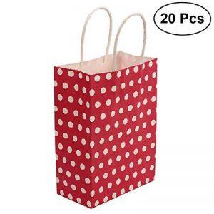 TOYMYTOY Sac cadeau, sacs en papier Kraft avec poignées Sac à provisions Shopping Noël, 20pcs (Rouge) de la marque TOYMYTOY image 0 produit