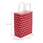 TOYMYTOY Sac cadeau, sacs en papier Kraft avec poignées Sac à provisions Shopping Noël, 20pcs (Rouge) de la marque TOYMYTOY image 1 produit