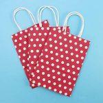 TOYMYTOY Sac cadeau, sacs en papier Kraft avec poignées Sac à provisions Shopping Noël, 20pcs (Rouge) de la marque TOYMYTOY image 3 produit