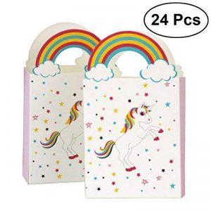 TOYMYTOY Sacs de traitement de fête Licorne Anniversaire Sacs-cadeaux de licorne de fête Sacs de faveur de papier-cadeau Pack de 24 de la marque TOYMYTOY image 0 produit