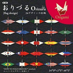 Toyo Origami pour Grue, avec drapeau national Imprimé 15cm x 15cm, 24Patterns, 2feuilles de chaque (006120) de la marque TOYO image 0 produit