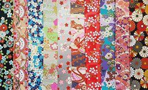traditionnel japonais Chiyogami Yuzen ~ 10feuilles de papier ~ 20x 20cm ~ Ref: A de la marque Yuzen image 0 produit