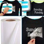 Transfert de chaleur en vinyle Rouleau, mat HTV Vinyle pour t-shirts 30,5 cm par 10 Pieds Rouleau (30*300cm, Blanc) de la marque SUNREEK image 1 produit