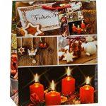 TSI 87016 Lot de 12 pochettes cadeau, 6 motifs de Noël série 6, format moyen 23x 18x 10cm de la marque TSI image 3 produit