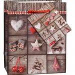 TSI 87026 Lot de 12 pochettes cadeau, 6 motifs de Noël, format petit 14x 11x 6,5cm de la marque TSI image 1 produit