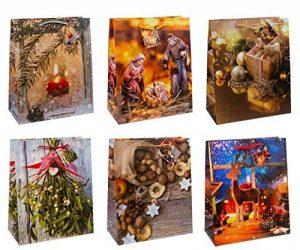TSI 87310Pochette cadeau Noël série 10, 12Sacs, Taille: Grand (32x 26x 13,5cm) de la marque TSI image 0 produit