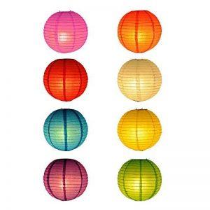 TSSS Lot de 8 lanternes chinoises pliantes en papier pour mariage ou décoration pour événement Floral 30 cm de la marque TSSS image 0 produit