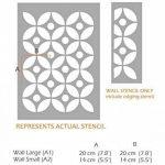 TSUNAGI POIS Meubles Mur Sol Pochoir Pour Peinture - Meubles Petit de la marque Dizzy Duck Designs image 1 produit
