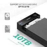 UGREEN USB 3.0 Boîtier Disque Dur Externe 3.5'' SATA HDD SSD 10To Max à 5Gbps UASP Compatible, Alimentation Externe 12V 2A, 1M Câble USB 3.0 de la marque UGREEN image 1 produit