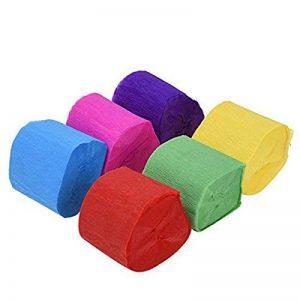 Ultnice 6-color crêpe Rouleau de papier crêpe serpentins Rouleau de papier pour décoration DIY de la marque ULTNICE image 0 produit