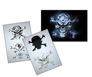 UMR-Design AS-063 pirate skull Pochoir pour aérographe Step by Step Size S de la marque UMR-Design image 0 produit