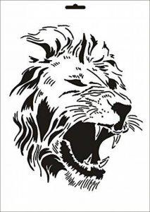 UMR-Design W-165 Lion Textile- / wallstencil Size A3 de la marque UMR-Design image 0 produit