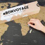 Une carte du monde à gratter avec des drapeaux XXL + BONUS une carte de Royaume-Uni (format A4) ! - Une affiche personnalisée du traqueur de voyage- souvenez-vous et partagez les mémoires de vos aventures.   Un design unique fait par ENNO VATTI (Noir   84 image 2 produit