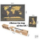 Une carte du monde à gratter avec des drapeaux XXL + BONUS une carte de Royaume-Uni (format A4) ! - Une affiche personnalisée du traqueur de voyage- souvenez-vous et partagez les mémoires de vos aventures.   Un design unique fait par ENNO VATTI (Noir   84 image 1 produit