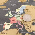 Une carte du monde à gratter avec des drapeaux XXL + BONUS une carte de Royaume-Uni (format A4) ! - Une affiche personnalisée du traqueur de voyage- souvenez-vous et partagez les mémoires de vos aventures.   Un design unique fait par ENNO VATTI (Noir   84 image 3 produit