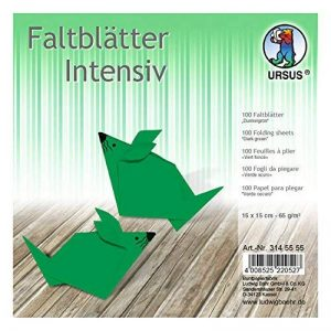 Ursus 3145555Pliable Feuilles Intense Couleur, 15x 15cm, 100Feuilles, Vert foncé de la marque Ursus image 0 produit
