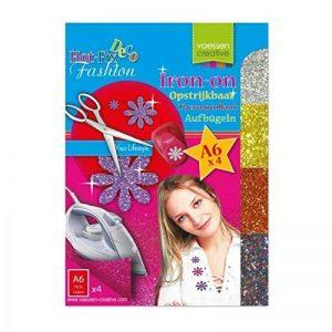 Vaessen creative 23445-005 Transfert à Paillettes Thermocollantes de 4 Feuilles Plastique Multicolore 14,8 x 10,5 x 0,1 cm de la marque Vaessen creative image 0 produit
