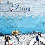 Vague Pochoir réutilisable Maison NAUTIQUE décor pochoir peinture murs Fabrics & MEUBLE - semi transparent pochoir, Small- See Images de la marque Ideal Stencils image 1 produit