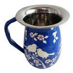 Vaisselle peint à la main en acier sur Lot de 16pièces Ensemble cadeau exclusif par Kashmiri Artisans I Home & Cuisine Décor | salle à manger et pour servir de la marque India Meets India image 5 produit