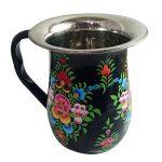 Vaisselle peint à la main en acier sur Lot de 16pièces Ensemble cadeau exclusif par Kashmiri Artisans I Home & Cuisine Décor | salle à manger et pour servir de la marque India Meets India image 2 produit