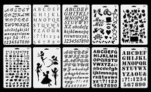 Vancool Plastic Bullet Journal Pochoir Modèle Set de 10 avec Lettres Alphabet Nombre, parfait pour Planner / Notebook / Journal / Scrapbook / Graffiti / Carte, DIY Dessin Peinture Projets Artisanat de la marque Vancool image 0 produit