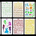 Vancool Plastic Bullet Journal Pochoir Modèle Set de 10 avec Lettres Alphabet Nombre, parfait pour Planner / Notebook / Journal / Scrapbook / Graffiti / Carte, DIY Dessin Peinture Projets Artisanat de la marque Vancool image 1 produit