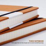 VENTES !!! Carnet Blanc/Blank Notebook - Lemome Sketchbook avec Papier épais Premium 125g/m² - Diviseurs Cadeaux - Plaine Rigide, A5, 8,4 x 5,7 pouces de la marque Lemome image 2 produit