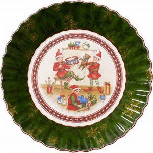 Villeroy & Boch 1483323648 Toy's Grande Coupelle Toy's Fantasy Motif Elfes/Arts de la Table de Noël Porcelaine Vert Porcelaine 27 x 23,5 x 5 cm de la marque Villeroy-Boch image 0 produit