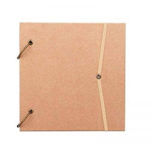 Vintage Croquis Spiral en Papier Kraft Carnet à Dessin Journal A4 Carré Collection des Timbres Photos Cadeau d'Anniversaire et de Fête pour Amis Professeurs Collègues de la marque LONTG image 0 produit