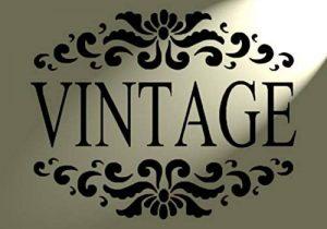 Vintage Style shabby chic rustique Pochoir en Mylar A4mur Meuble Français Paris Art de la marque Solitarydesign image 0 produit