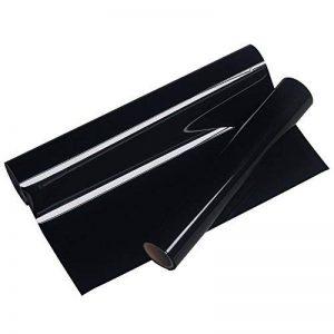 VINYLE FROG 25x155cm PU noir fer sur rouleaux de vinyle de transfert de chaleur HTV de la marque VINYL FROG image 0 produit
