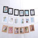 Vorcool 30pcs DIY En Papier kraft cadres photo à suspendre Décoration murale avec lot de 30clips et 3pcs Ensemble de cordes de chanvre pour 4,5x 6in photos de la marque VORCOOL image 4 produit